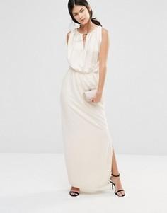 Платье макси в греческом стиле Vila - Розовый