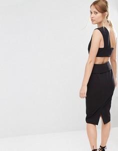 Платье-футляр с отделкой сзади Finders Keepers - Черный