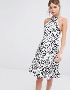 Платье с принтом и халтером Keepsake - Мульти