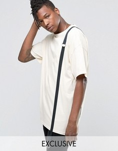Oversize-футболка Reclaimed Vintage - Stone