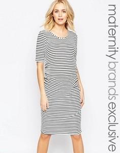 Платье миди в полоску для беременных Bluebelle Maternity - Мульти