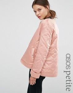 Куртка со стеганой отделкой ASOS PETITE - Серый
