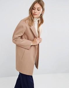Пальто-кокон в мальчишеском стиле ASOS - Stone