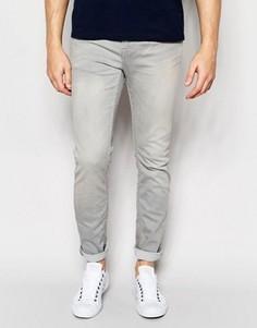 Узкие светлые джинсы серого оттенка Only & Sons - Серый