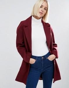 Пальто-кокон в мальчишеском стиле ASOS - Красный
