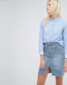 Приталенная рубашка Vero Moda - Синий