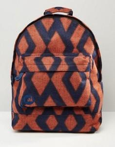 Темно-синий фетровый рюкзак с ромбовидным принтом Mi-Pac - Темно-синий