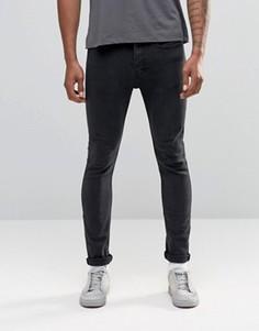 Выбеленные джинсы скинни LDN DNM - Темно-синий