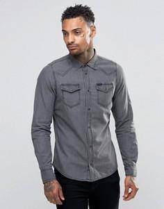 Светлая джинсовая рубашка в стиле вестерн Diesel New-Sonora-E - Серый