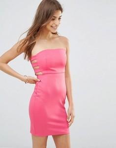 Облегающее платье Oh My Love - Розовый