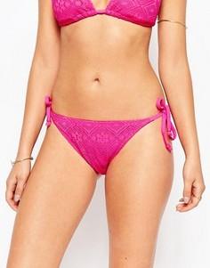Плавки бикини с завязками по бокам Marie Meili Aquarius - Розовый