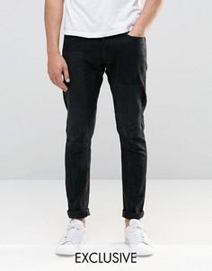 Черные выбеленные состаренные джинсы слим G-Star 3301-A - Черный