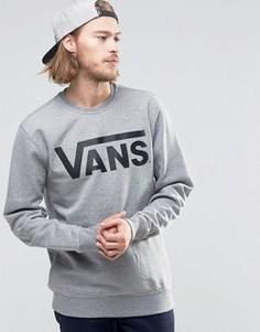 Классический серый свитшот с круглым вырезом Vans V00YX0ADY - Серый