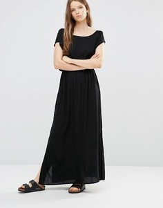 Черное платье‑футболка макси JDY - Черный