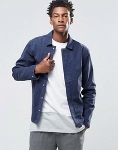 Легкая куртка со скрытой планкой ADPT - Темно-синий