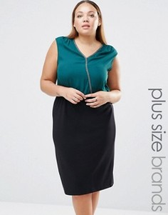 Платье миди размера плюс Junarose Lillie - Зеленый