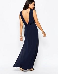 Платье макси Goldie - Темно-синий