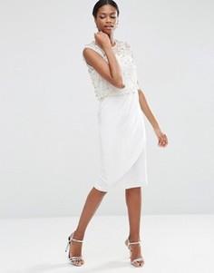 Платье миди ASOS - Кремовый