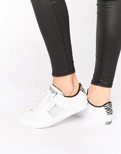 Белые кроссовки со вставками с принтом под зебру Le Coq Sportif Arthur Ashe - Белый