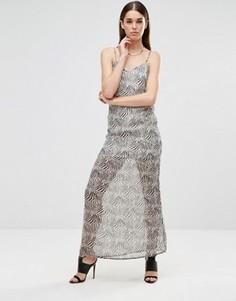 Шифоновое платье макси на бретельках Twin Sister - Мульти
