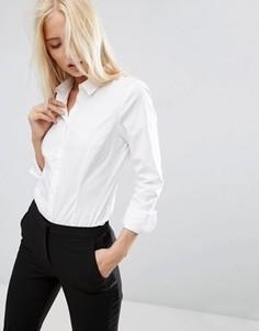 Белая рубашка из эластичного хлопка ASOS - Белый