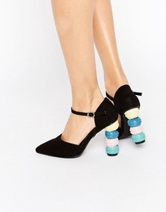 Туфли на каблуке с острым носом Daisy Street Macaroon - Мульти