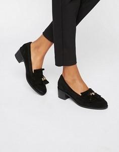 Замшевые туфли на каблуке средней высоты с кисточками Carvela Kalm - Черный