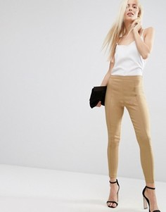 Укороченные зауженные брюки ASOS - Бежевый