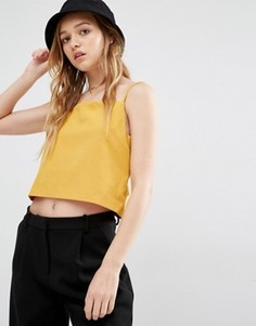 Топ с открытой спиной Weekday - Желтый