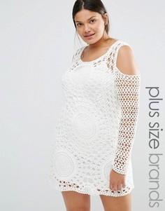 Платье в стиле кроше Missguided Plus - Белый