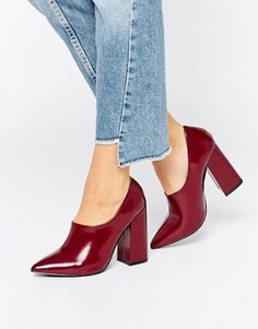 Лакированные туфли на высоком каблуке с высокой союзкой Daisy Street - Красный