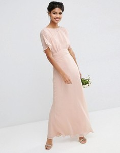 Мягкое платье макси ASOS WEDDING - Розовый