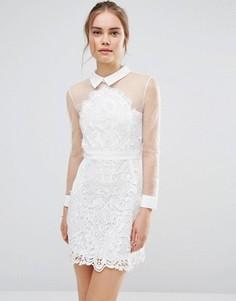 Кружевное платье-рубашка Endless Rose - Белый