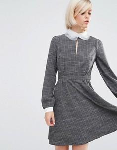 Платье с контрастным воротником Lost Ink - Серый