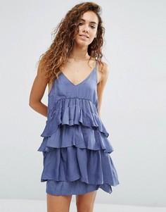 Платье с ярусными оборками d.RA Kade - Серый