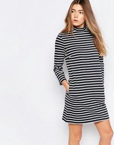 Платье в темно-синюю полоску Wood Wood Mary - Синий
