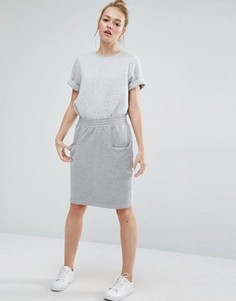 Трикотажная юбка-карандаш Monki - Серый