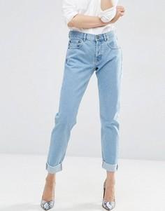 Выбеленные джинсы‑морковки бойфренда ASOS - Синий