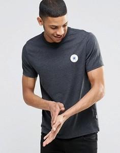 Черная футболка с логотипом Converse Chuck 10002849-A01 - Черный