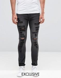 Рваные облегающие джинсы Cheap Monday - Серый