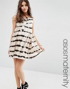 Платье для беременных с принтом тай‑дай ASOS Maternity - Мульти