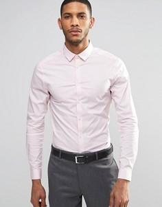 Зауженная розовая рубашка с длинными рукавами ASOS - Розовый
