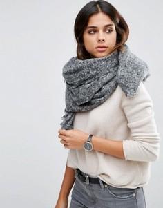 Двухцветный тканый oversize‑шарф ASOS - Серый