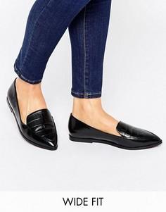 Сандалии с острым носком для широкой стопы ASOS MARTHA - Черный