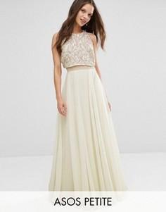 Платье макси с укороченным топом ASOS PETITE - Мульти
