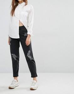 Потертые джинсы в винтажном стиле Waven Elsa - Черный