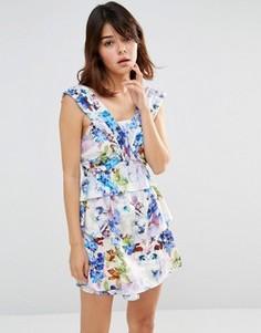 Панельное платье мини J.O.A - Фиолетовый J.O.A.