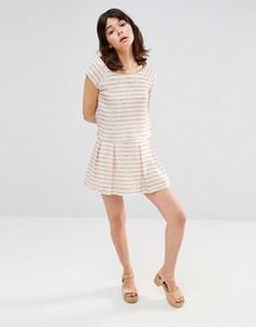 Мини-юбка с принтом J.O.A - Белый J.O.A.
