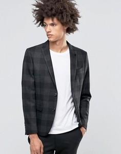 Серый пиджак в клетку Selected - Серый