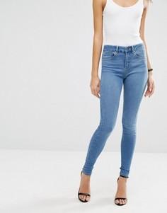 Синие джинсы с завышенной талией ASOS SCULPT ME Jecca Pretty - Синий
